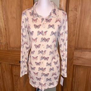 NWT L LLR Butterfly Printed Valentina